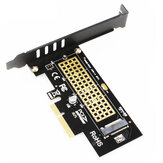 Tarjeta vertical JEYI SK4 M.2 NVMe SSD NGFF a PCIE X4 Adaptador M Tarjeta de interfaz clave compatible con PCI Express 3.0 X4 2230-2280 Tamaño