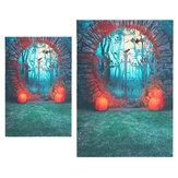 3x5FT 5x7FT Vinyl Halloween Pumpkin Bat Photography Backdrop Background Studio Prop