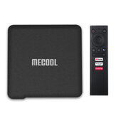 Mecool KM1 S905X3 ATV 4 GB DDR RAM 64GB EMMC ROM Android 10.0 TV-Box 2.4G 5G WIFI Bluetooth 4.2 Google Certified Support 4K YouTube Prime Video Google-Assistent
