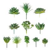 11 pçs / set artificial flor suculenta plantas florais início jardim diy paisagem decorações