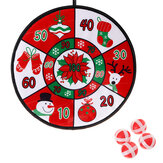 Ball Throw Dart Board Toys Set Christmas Decorations Fabric Dart Board Game with 6 Balls Gift for Children Kids