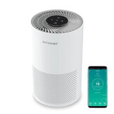BlitzWolf®BW-AP1 Smart Purificador de ar 220m³ / h CADR 26dB Filtro de ar silencioso, remove alergias, fumaça, poeira, mofo, pólen, pêlos de animais domésticos, carvão ativado elimina odores e desodoriza filtro HEPA com luz noturna APP Controle Rem