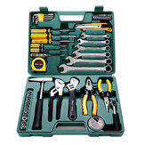 CREST 49Pcs Multifunction Machine Repair Tools Kit with Plastic Toolbox