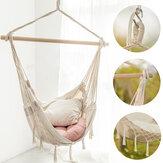 Гамак с кисточками Сад Hang Lazy Chair Swinging Indoor На открытом воздухе Мебель Висят Веревка Кресло Travel Кемпинг Кресло безопасности Сиденье