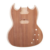 DIY Unfinished Basswood Guitar Body Guitar Parts For SG Style 22 Frets Guitar