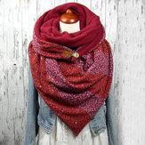 女性の綿Plus厚く暖かい冬の屋外カジュアルストライプパターンパターンスター装飾多目的スカーフショール