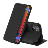 DUX DUCIS Magnetic Flip with Card Slot Stand PU Leather Shockproof Anti-Scratch Full Body Protective Case for iPhone 12 Mini / 12 Pro / 12 / 12 Pro Max