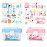 35 Pcs Simulation Medical Role Play Pretend Doctor Game Equipment Set Educational Toy with Box for Kids Gift