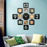 70×70センチリビングルームの寝室の壁時計フォトフレーム時間現代トレンディ最新サイレントビッグクリスマスギフト結婚記念日プレゼント