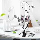 Bakeey 4-in-1 Flashes Selfie Lights Live Broadcast Makeup Selfie Lamp 360 Degree Common Hose Stable Support Light Stand