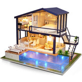 Cuteroom A-066 Time Apartment DIY Domek dla lalek z meblami Light Gift House Toy