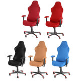 4Pcs/set Elastic Office Chair Cover Computer Rotating Chair Protector Stretch Armchair Seat Slipcover Home Office Furniture Decoration
