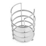 11X17cm Round Tableware and Chopstick Holder Metal Tool Storage Basket