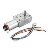 Machifit GW370 DC 12V 20/40/70/100/400RPM Mini-turbine Rod Geared Motor With Encoder For Automatic Sprayer