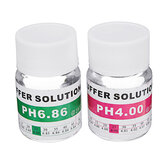 2Pcs 25ml PH 4.00 / 6.86 Meter PH Buffer Calibration Kit Buffer Solution Cloruro de potasio