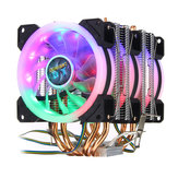 4Pin Trzy wentylatory 4-Heatpipes Colorful Podświetlany CPU Wentylator Cooler Radiator Do Intel AMD