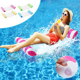 120*65CM Hammock Foldable Dual-use Backrest Inflatable Toys Water Play Lounge Chair Floating Bed Leisure Toy with Inflator