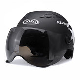 Motorcycle Helmet Half Open Face Scooter Protection Head Gear