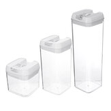 3PCS Dry Food Container Cereal Pantry Storage Box Airtight Set