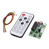 DC 4V-6V Stepper Motor Driver Controller Integrated Board 2-phase 4-wire Speed Adjustable with Remote Controller