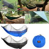 Outdoor Portable Camping Spadochron Hamak wiszące Huśtawka Łóżko z moskitierą