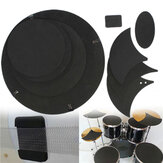 10Pcs Bass Snare Drum Sound off Mute Schalldämpfer Drumming Gummi Practice Pad Set