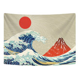 Wall Hanging Tapestry Polyester Great Wave Mount Fuji Mountain Pattern Tapestry For Dorm Bedroom Living Room Decoration