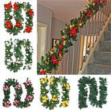 2.7m Christmas Tree Wreath Door Hanging Garland Window Ornament Xmas Party Decor
