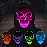 Original              Halloween Skeleton Mask LED Scary EL-Wire Mask Light Up Festival Cosplay Costume Supplies Party Mask