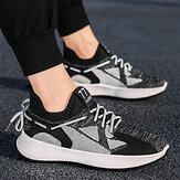 TENGOO chaussures de course pour hommes Absorption des chocs ultra-léger respirant confortable baskets de sport marche volant tissé chaussures décontractées