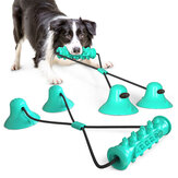 Dog Interactive Suction Cup Push Toys Pet Molar Bite Toy Elastic Ropes Dog Tooth Cleaning Chewing Pet Puppy Dog Toys