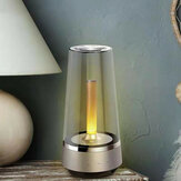 USB Warm and Romantic Candle Breathing Night Light bluetooth Speaker Bedside Lamp Sound Music Creative Atmosphere Table Lamp