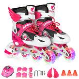 Patins à roues alignées pour enfants, chaussures de patinage à roulettes lumineuses réglables, baskets de patinage libre coulissantes