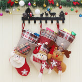 Christmas Candy Bag Stocking Santa Claus Sock Prezent Torba Bauble Ozdoby choinkowe Ozdoba