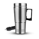 400ml Car Heating Cup Stainless Steel Auto Water Heater Kettle Travel Coffee Tea Heated Mug Motor Cup