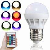 E27 LED RGB lamp 3W SMD 5630 Kleur veranderen 24 toetsen IR Lamp met afstandsbediening Gloeilamp AC 85-265V