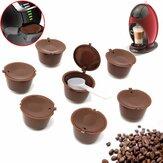 DolceGustoTekKullanımlıkBrewersDolum Kahve Kupası Filtresi için 8 Adet Doldurulabilir Kahve Kapsülleri