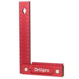 Drillpro 150/200mm Metrik Hassas Ağaç İşleme Kare Alüminyum Alaşımlı Geniş Koltuk Çizim Parçalar L 90° Dik Açı Cetvel