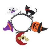 Halloween Party Hairpin Bats Pompoen Schedel Headdress Haar Accessoires Holiday Gift for Kid