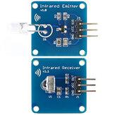 Mini 38KHz IR Infraroodzendermodule + IR Infraroodontvanger Sensormodule RPI STM32