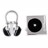 Botões de punho estereofónicos unisex dos fones de ouvido do CD do instrumento musical