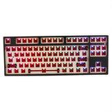 FEKER F87T 87 tasti Kit tastiera personalizzata 2.4G bluetooth RGB retroilluminato glassato ABS Custodia fai da te Meccanico Kit tastiera
