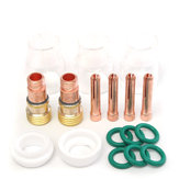 17pcs TIG Welding Gun Accessories Copper Mouth Glass Cover for WP-17/18/26 Series