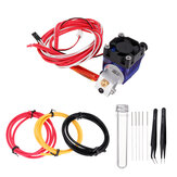 V6 0.4mm All Metal Long-distance Extruder Kit with 0.4mm Cleaning Needle Nozzle Cleaning Tool + Tweezers + PTEF Tube for 3D Printer Part