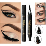 2 w 1 czarny płynny eyeliner Wing Seal Stamp Pencil Quick Dry Waterproof Makeup