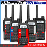Baofeng BF UV10R 10W USB de alta potência Walkie Talkie 10 Watts VHF UHF Estação de radioamador UV-10R CB Rádio transmissor USB Transmissor