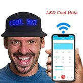 Luminous LED Hats Display Multilanguage Wireless Bluetooth Party Baseball Mens Cap Sun Hat
