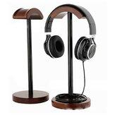 ソリッドウッドディスプレイスタンドハンガーホルダーラックゲームヘッドセットのBluetoothイヤホンヘッドフォン