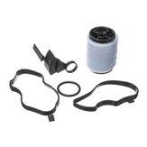 Válvula de filtro de óleo com gaxetas, cárter, ventilação, respirador, separador