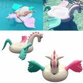 Gigante Inflável Unicórnio Pegasus Flutuante Natação Piscina Praia Waterbed Partido Brinquedo